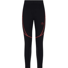 La Sportiva Triumph Tight Shorts Women, black/hibiscus
